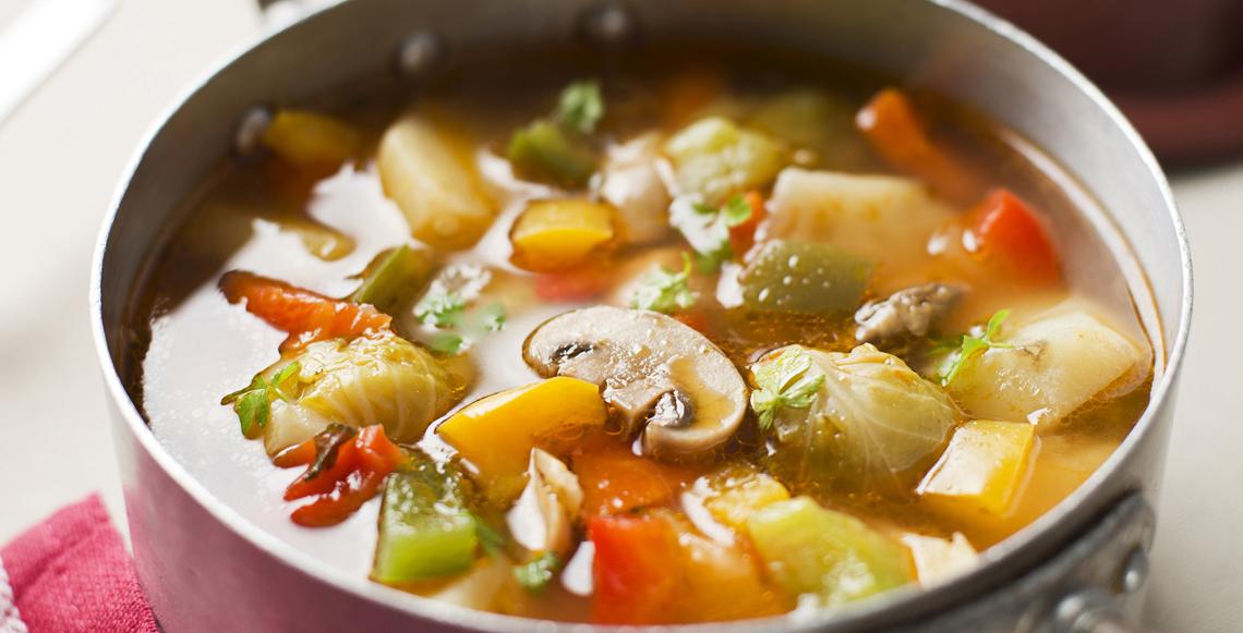 Суп из сельдерея и грибов