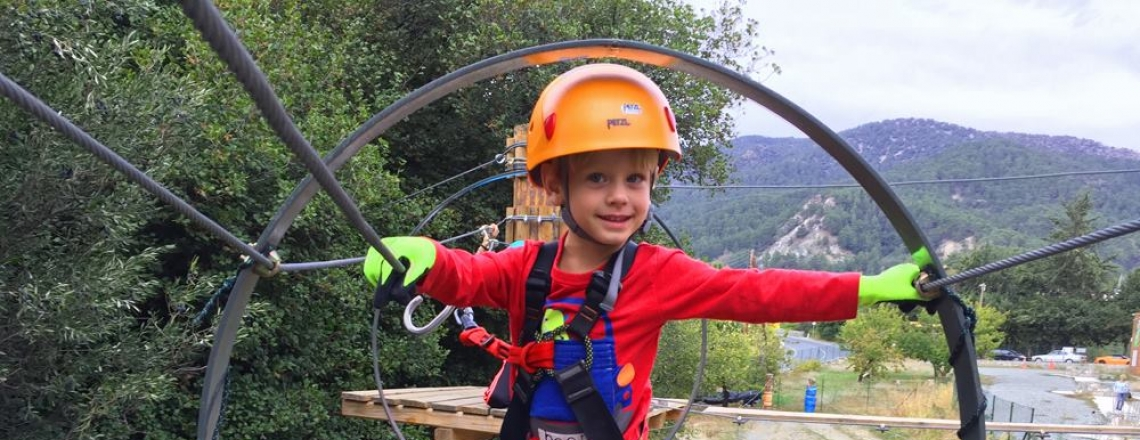 SPARTY platres adventure park, веревочный парк «Спарти» в Лимассоле