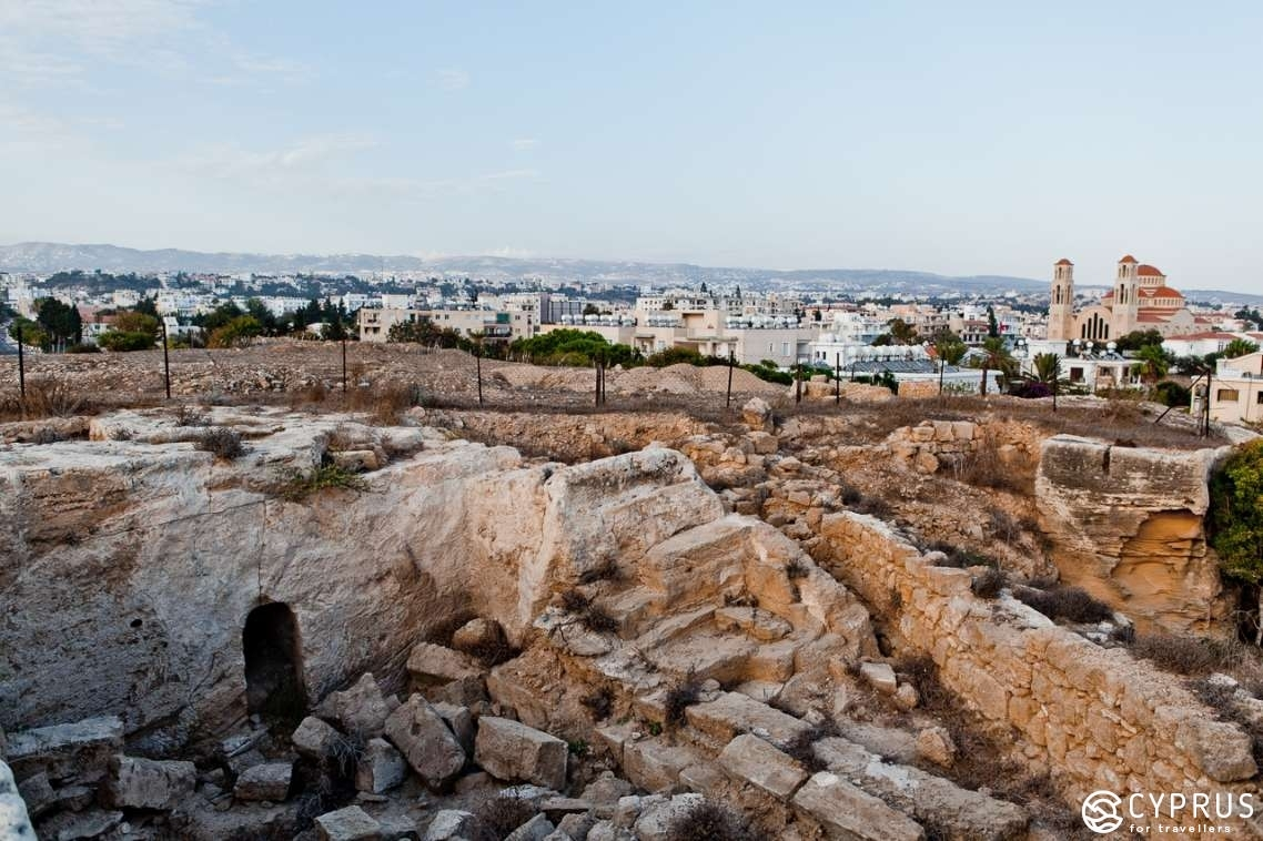 Paphos Archeological Park and Christian catacombs on Ayiou Agapitikou Street
